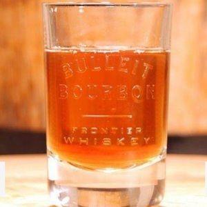 2 Bulleit Bourbon Whiskey Tumbler Glasses